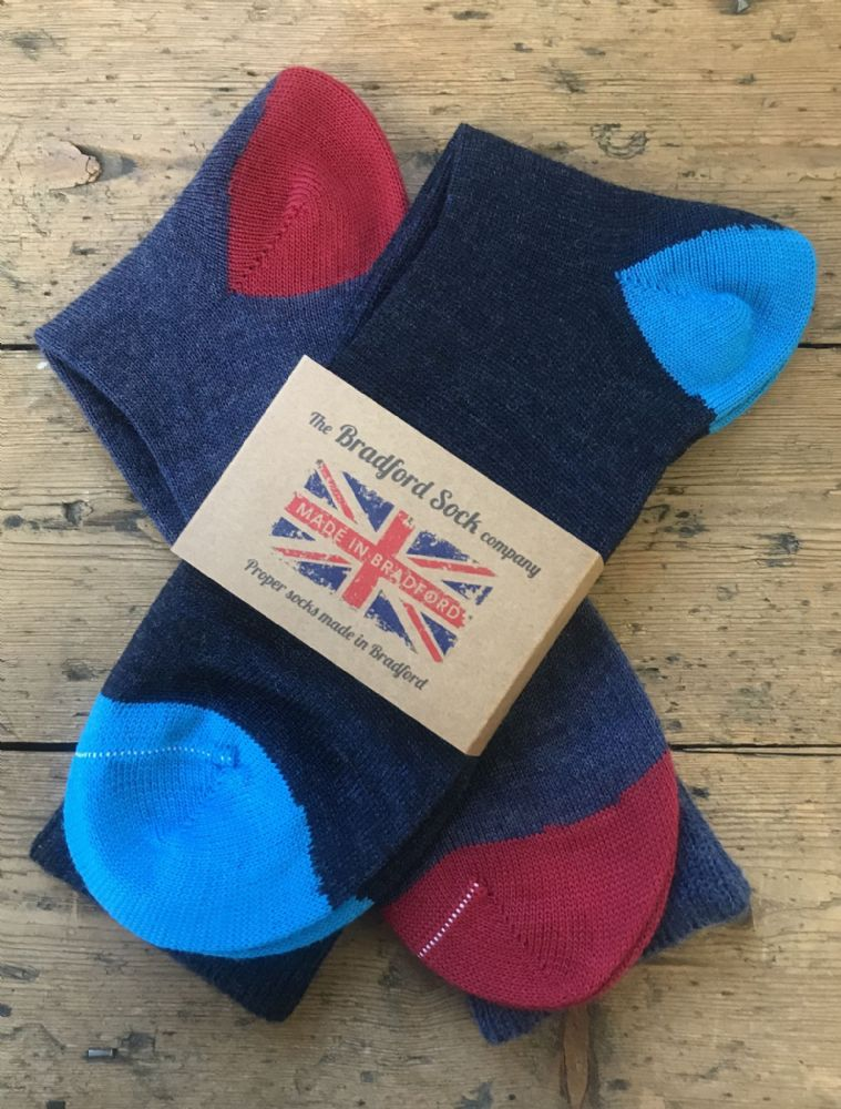 Blue Mens  | Mens Wool Socks | Quality Socks | Yorkshire Socks | Black Socks | Blue Socks | Navy Socks | UK Sock Manufacturer | Made in UK